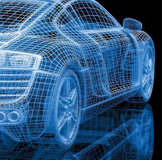 Auto 3D-Modell Drahtgitter-Ansicht